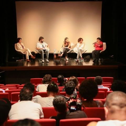 Mesa no Seminário Deseducando o Olhar 2015.