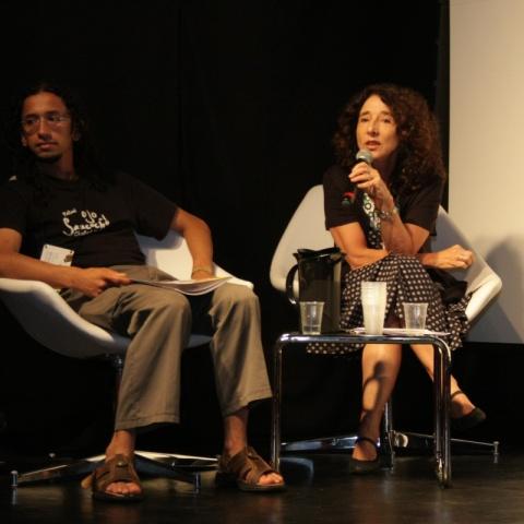 Eliane Costa, durante mesa de debate sobre a criação da Rede Miradas