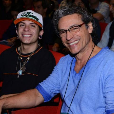 O ator Luis Carlos Vansconcelos na abertura do festival 2014