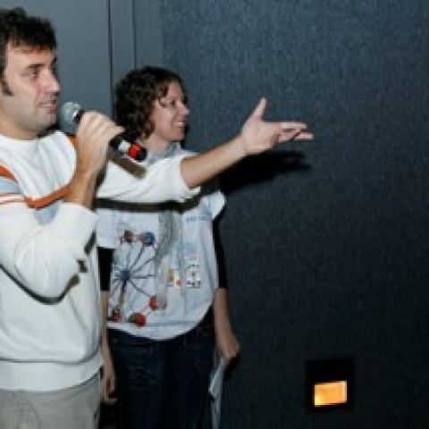 Marcio Blanco e Karine Mueller,  no encerramento do Visões Periféricas 2009